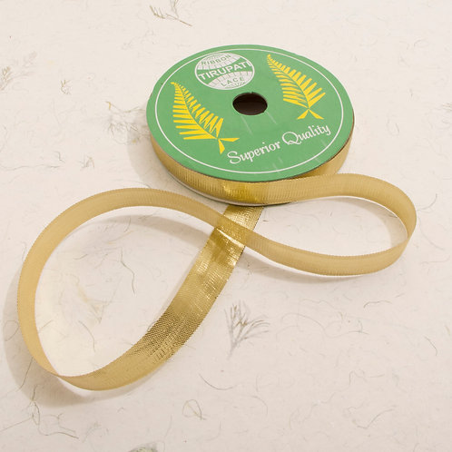 Gold Woven Ribbon