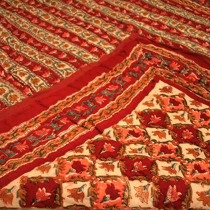 Red Jaipuri Lap Quilt