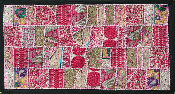 Pink Patchwork Wall Hanging Small