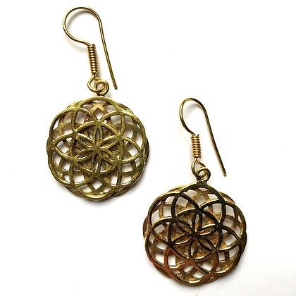 Double Flower of  Life Earrings