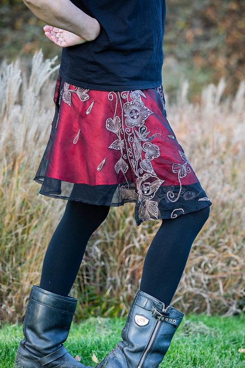 Red Sitara Skirt