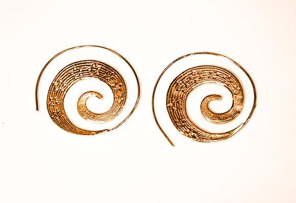 Flower Cut Out Swirl Earrings