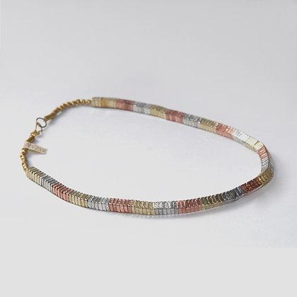 Copper Square Link Necklace