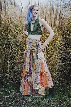 Upcycled Sari Patchwork Skirt