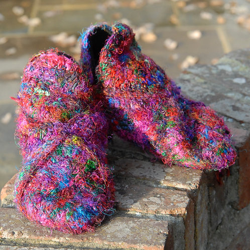Sari Silk Slippers