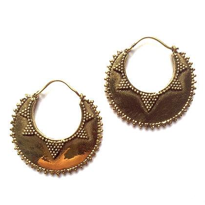 Diamond Half Moon Earrings