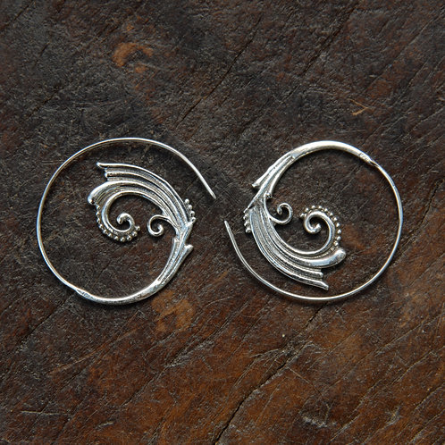 Crown Shell Spiral Hoops