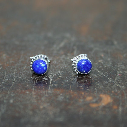 Lapis Lazuli Studs with Arrow Detail