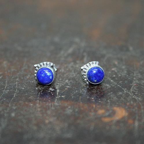 Lapis Lazuli Studs with Arrow Detail
