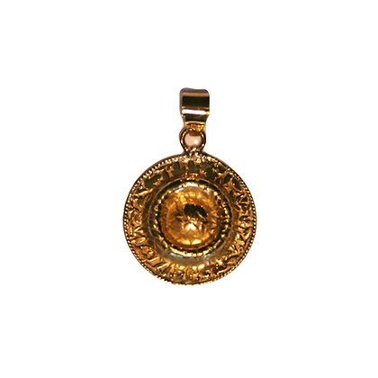 Engraved Flower Pendant