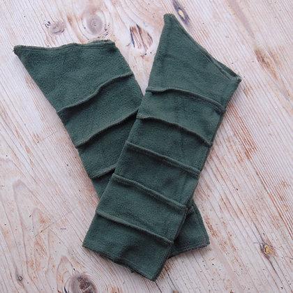 Fleece Wrist Warmers Green