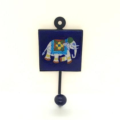 Navy Elephant Tile Hook