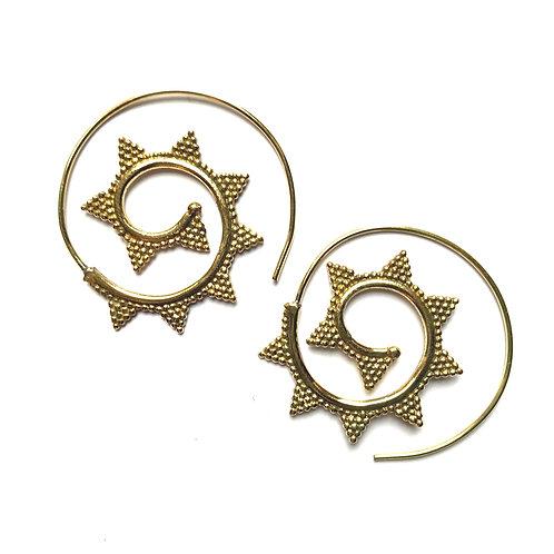 Triangle Swirl Earrings