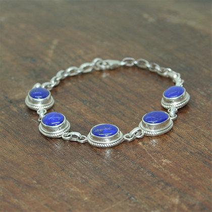 Detailed Lapis Lazuli Bracelet