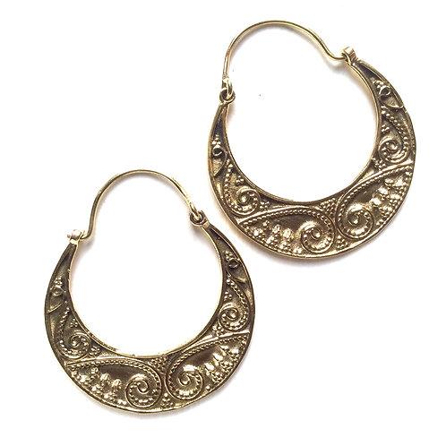 Swirl Half Moon Earrings