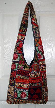 Navy Patchwork Bag