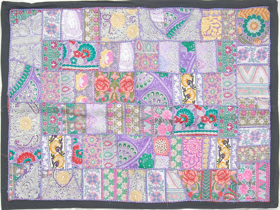 Lilac Patchwork Wall Hanging Medium