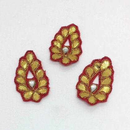 Red and Gold Embroidered Embellishment