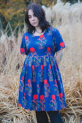 Indian Flower Pleat Dress