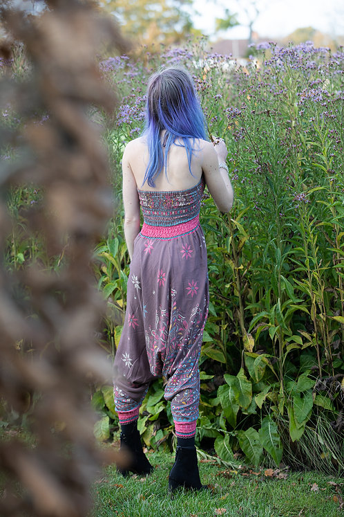 Mink and Pink Sequin Harem Trousers