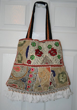 Cream Patchwork Bell Bag