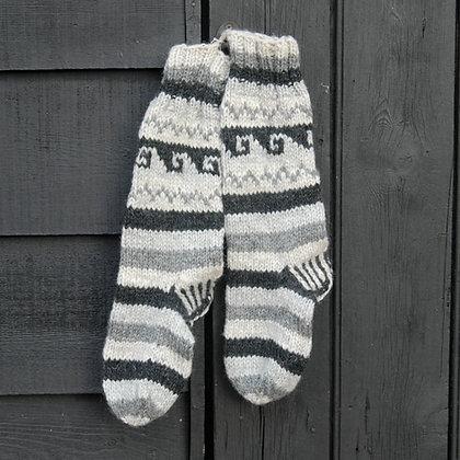Woollen Hand-Knitted Socks