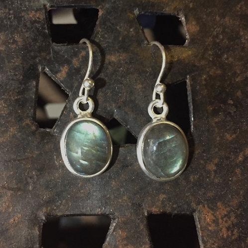 Oval Labradorite Earrings