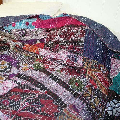 Bright Floral Double Bedspread