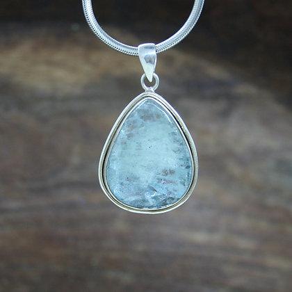 Aquamarine Sunstone Pendant