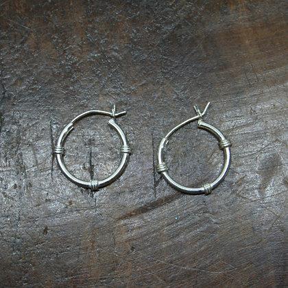 Wire Wrap Hoop Earrings