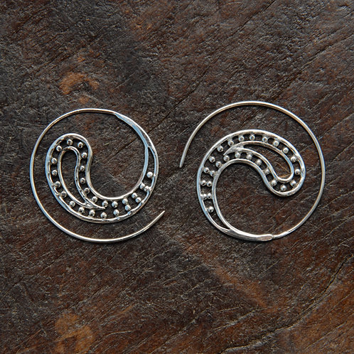 Dotty Paisley Spiral Hoops