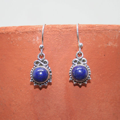 Detailed Lapis Lazuli Earrings
