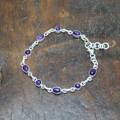 Cabochon Amethyst Bracelet