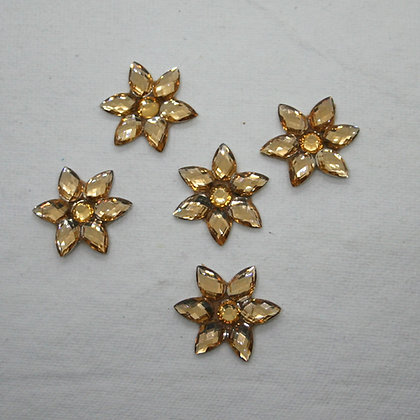 Gold Flower Embellishment