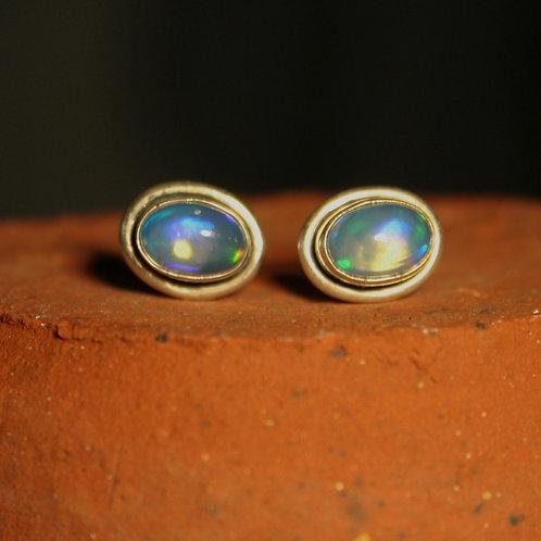 Ethiopian Opal Studs