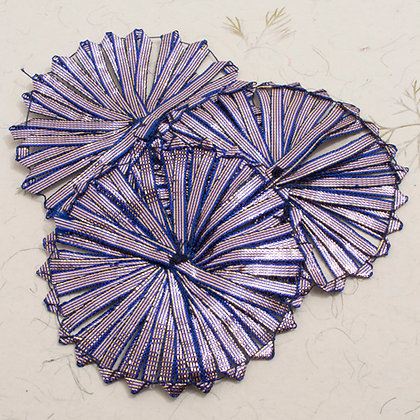 Pleated Ribbon in Purple
