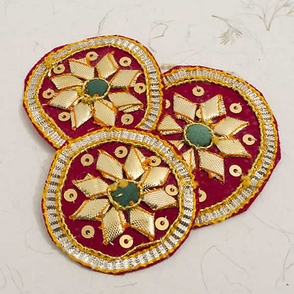 Red & Gold Hand Embroidered Embellishments