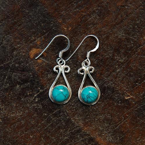 Turquoise Twirl Earrings