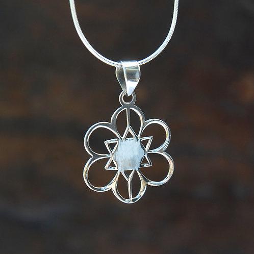 Mandala Silver Pendant no.2