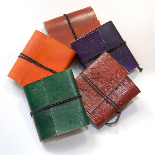 Leather Tie Book (pack of 3)