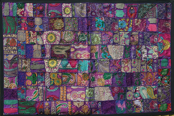 Purple Patchwork Wall Hanging Large