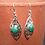 Thumbnail: Detailed Diamond Malachite Earrings