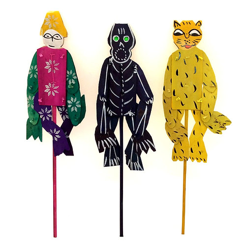 Palm Leaf Moving Puppets (pack of 3)