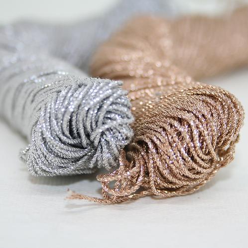 Gold and Silver Metallic Cotton Thread