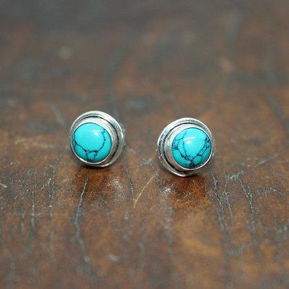 Round Turquoise Studs
