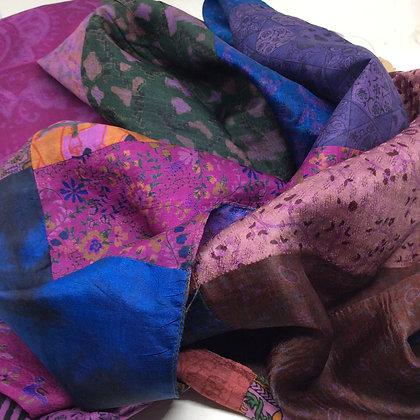 Patchwork Silk Scarf