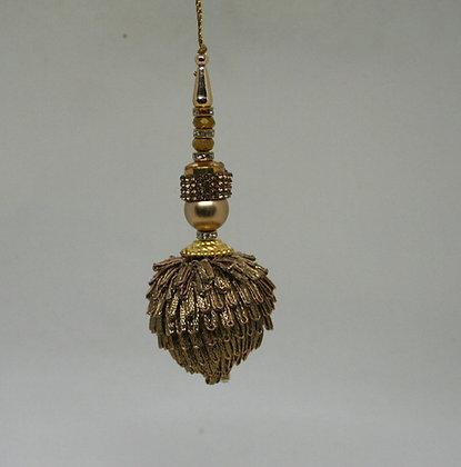 Gold Acorn Christmas Decoration