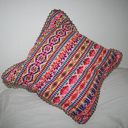 Orange Aztec Cushion Cover