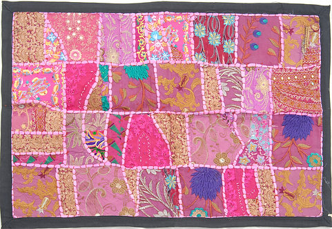 Pink Patched Wall Hanging Small