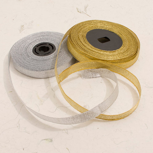 Woven Ribbon (Gold or Silver)